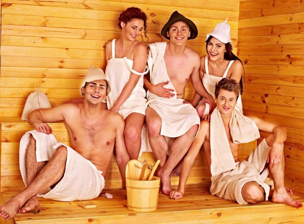 пьяная смотреть отдых в сауне русских фото данной тематике